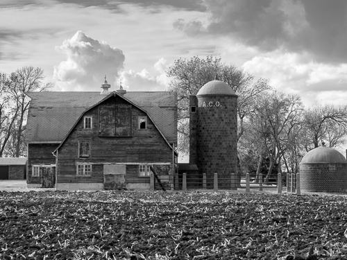 Barn and A.C.O. Silo near St. James, MN