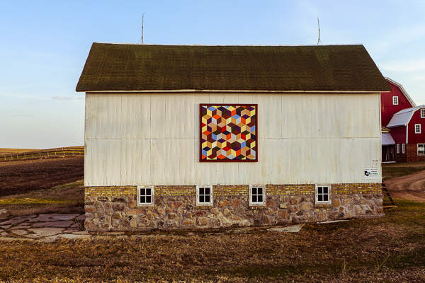 Outbuilding with Quilt Square
