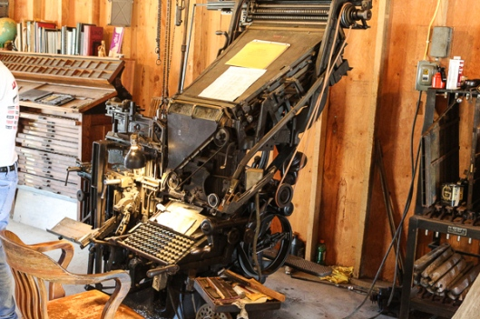 Linotype typesetting machine