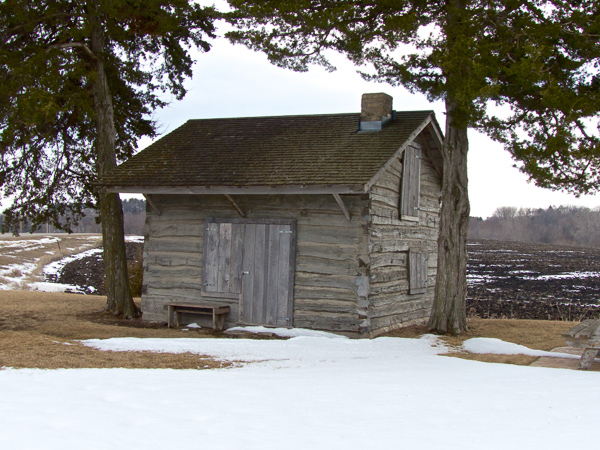 Log Cabin that housed 15 people for a winter