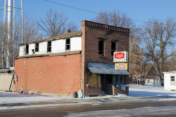 K&M Liquor after the fire.