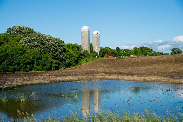 Silos in the water