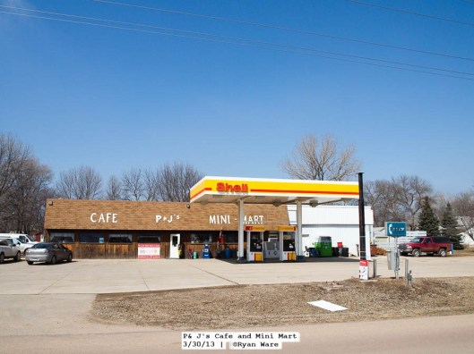 Heron Lake has a few former gas stations, but this one is still in business.